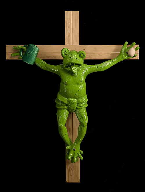 Rana crucificada de Martin Kipperberger