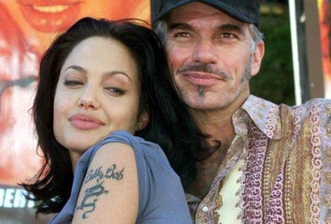 Angelina Jolie y Billy Bob Thornton tatuados