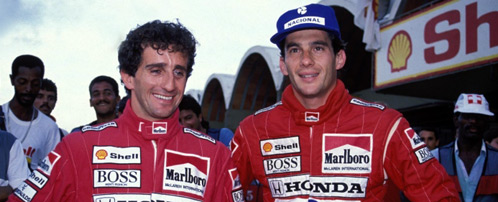 Ayrton Senna y Alain Prost