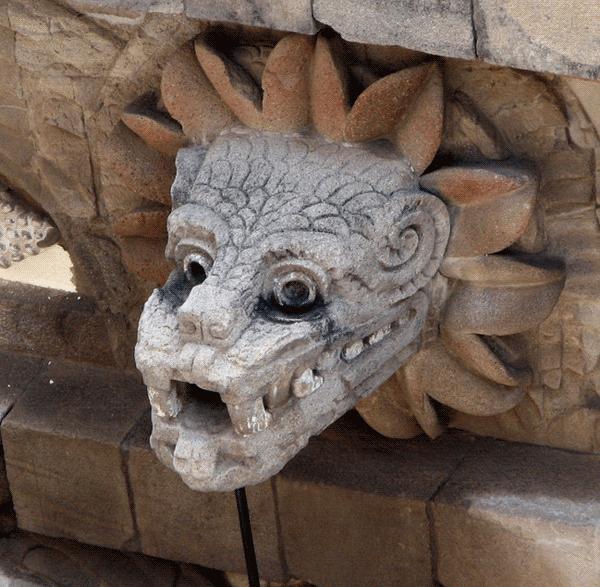Busto quetzalcoatl Teotihuacan.