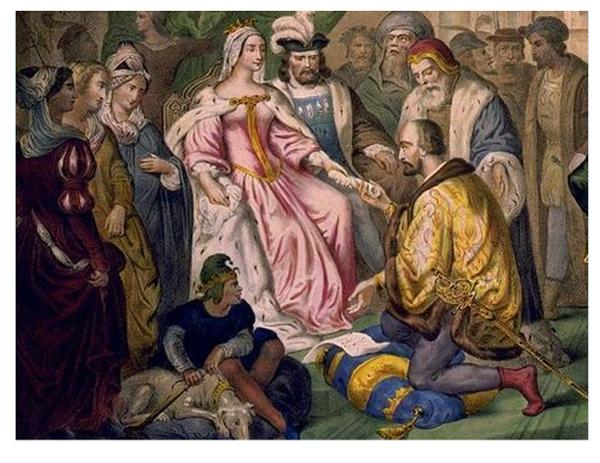 Cristobal Colon y la Reina Isabel