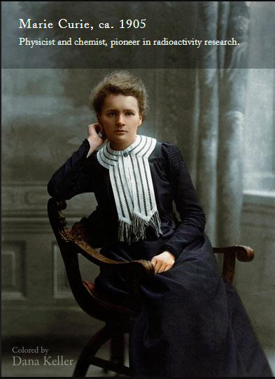 Marie Curie imagen en color