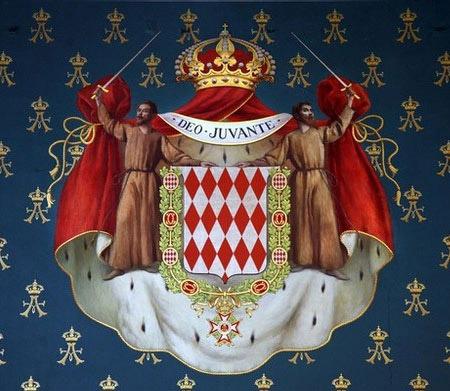 escudo de armas del principado de Mónaco