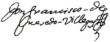 firma Francisco de Quevedo