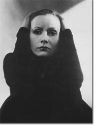 Greta Garbo en los inicios de la fotografia en la moda