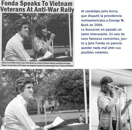 John Kerry, fotos trucadas junto a Jane Fonda