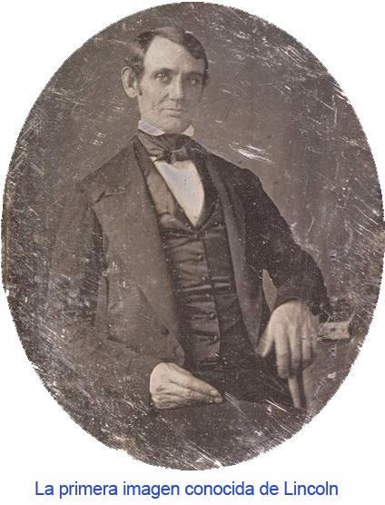 La primera fotografía de Abraham Lincoln