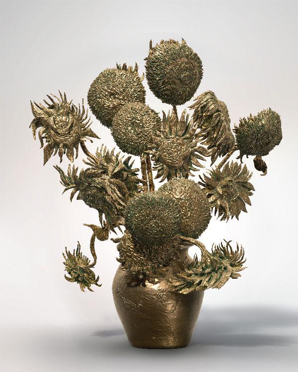 Los girasoles de Van Gogh en 3D