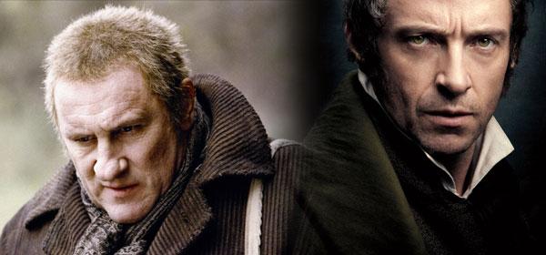 Los Miserables. Gerard Depardieu y Hugh Jackman