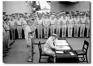 MacArthur. Capitulación del ejército japonés en la Segunda Guerra Mundial