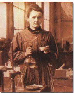 Marie Curie en el laboratorio