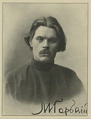 Retrato firmado por Gorki