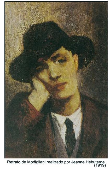 Retrato de Modigliani realizado por Jeanne Hébuterne