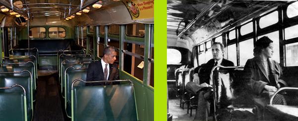 Obama y Rosa Parks