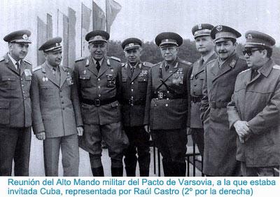 reunion del alto mando militar del Pacto de Varsovia, con Raul Castro