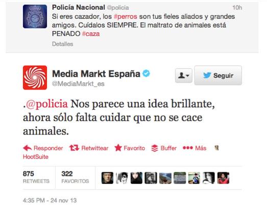 MediaMarkt y la policia