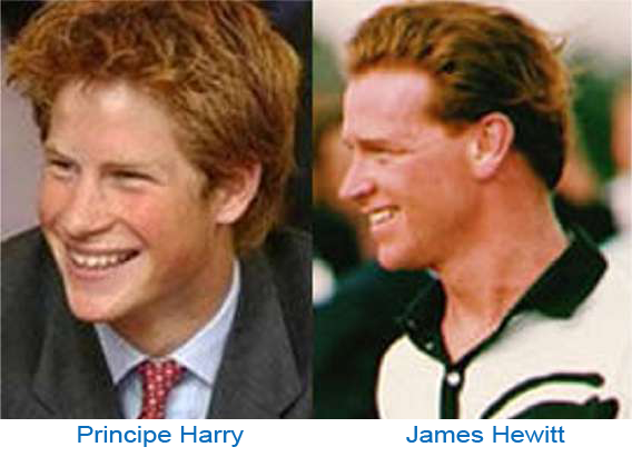 Principe Harry y James Hewitt