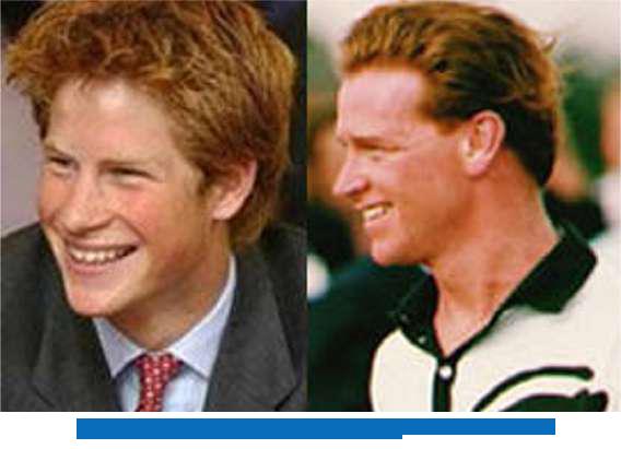 Principe Harry y James Hewitt