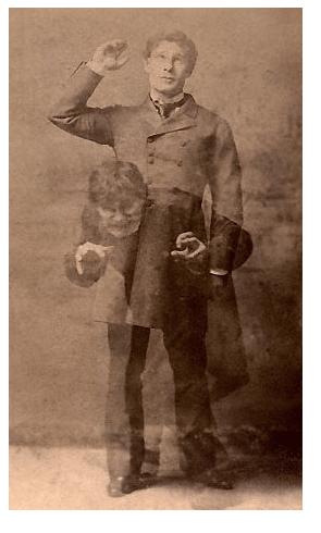 Jekyll y Hyde interpretado por Richard Mansfield