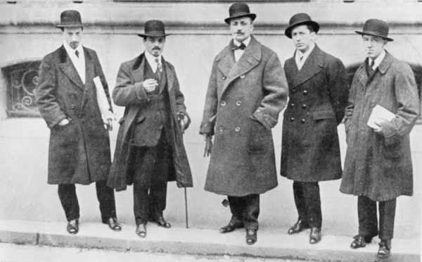 Russolo, Carra, Marinetti y Boccioni