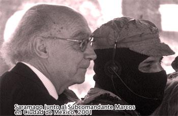 Saramago y el Subcomandante Marcos