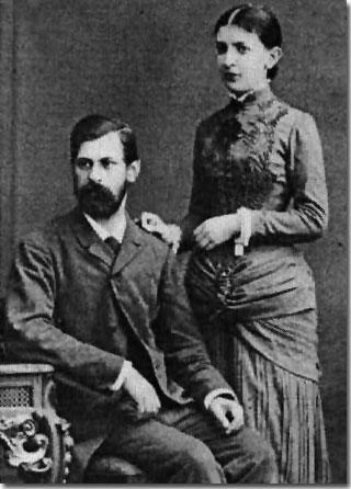 Sigmund Freud y esposa Marta