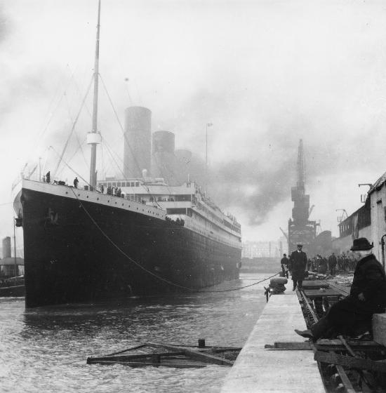 Titanic en el puerto