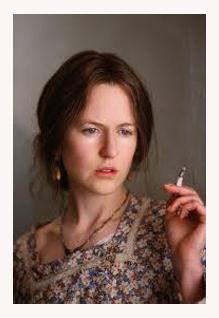 Nicole Kidman caracterizada de Virginia Woolf