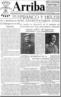 Portada del Diario Arriba