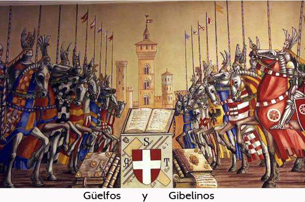 los güelfos y los gibelinos