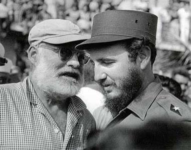 Hemingway y Fidel Castro