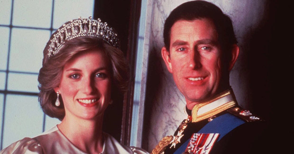 Lady Di and Prince Charles of England at their wedding