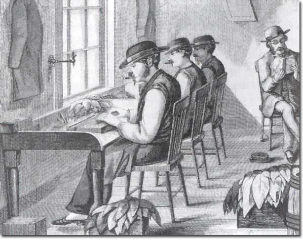 Lector de libros en la fábrica