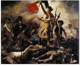 La Libertad guiando al pueblo. Eugène Delacroix. 1830