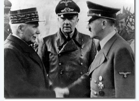 Pétain y Hitler reunidos en Montoire
