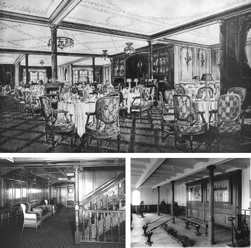 Interior del titanic