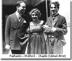 Fairbanks Pickford y Chaplin United Artist