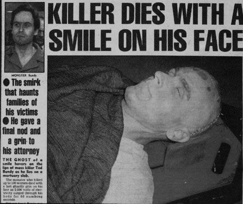 Imagen de Ted Bundy tras la condena a pena de muerte