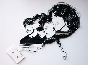 Obras de Arte con cinta de cassette [retratos]