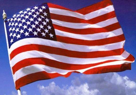 Bandera de Estados Unidos con todas las estrellas de los estados