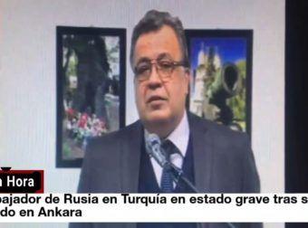 Video completo del atentado sufrido por el embajador ruso en Ankara