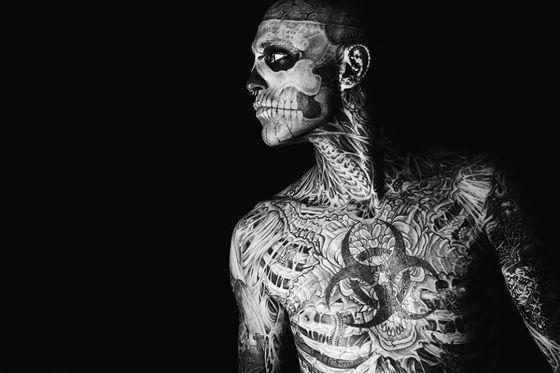 Zombie Boy. Las personas mas tatuadas del mundo