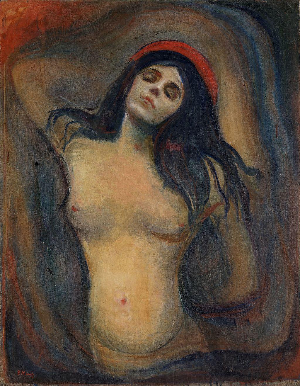 Madonna cuadro Edvard Munch