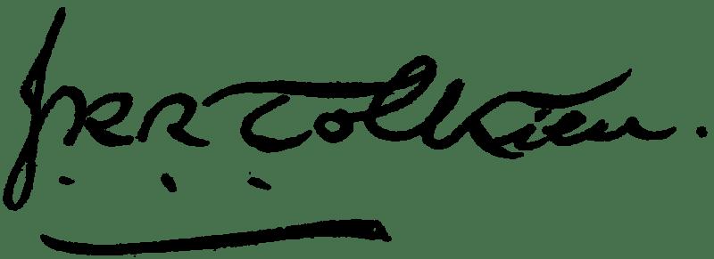 Firma de JRR Tolkien