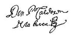 Firma de Calderón de la Barca