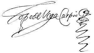 firma de Lope de Vega