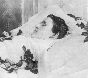 Matilde de Austria Teschen en el lecho de muerte