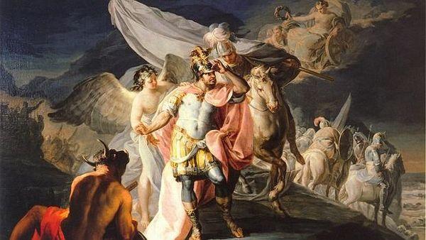 Aníbal, vencedor contemplando por primera vez Italia desde los Alpes (1770), óleo sobre lienzo de Francisco de Goya