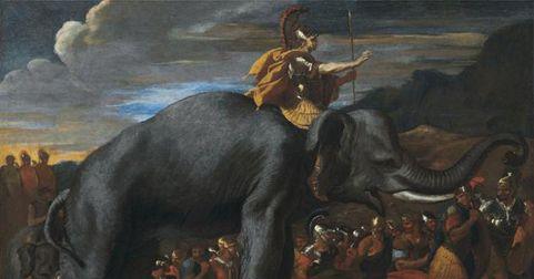 Aníbal Barca sobre uno de sus míticos elefantes de su ejército