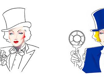 Marlene Dietrich en el Doodle de Google USA